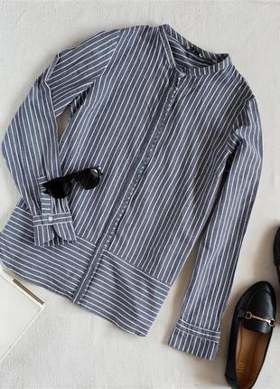 Рубашка в полоску 100% хлопок mustang