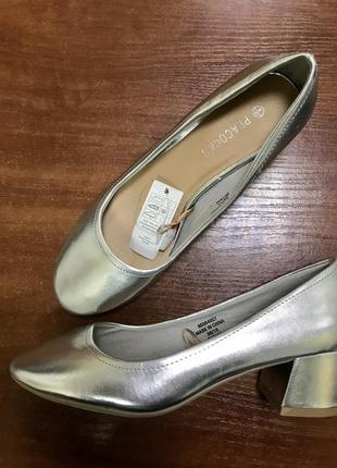 Туфли серебро peacocks
