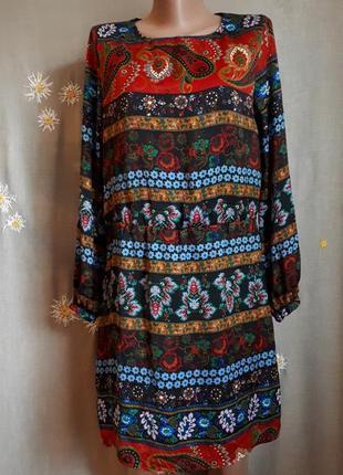 Брендовое платье mango  в этно стиле орнамент, бохо, принт/ полная распродажа