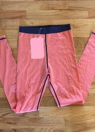 Термо лосины штаны crane 100% шерсть мерино  на рост 158-164см