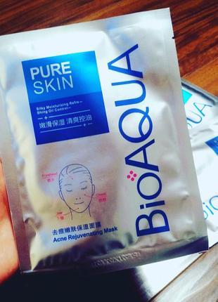 Тканевая маска для проблемной кожи bioaqua pure skin