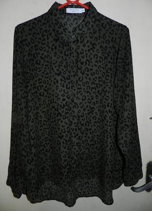Блузка,в актуальный принт,с удлинённой спинкой, большого размера,costes