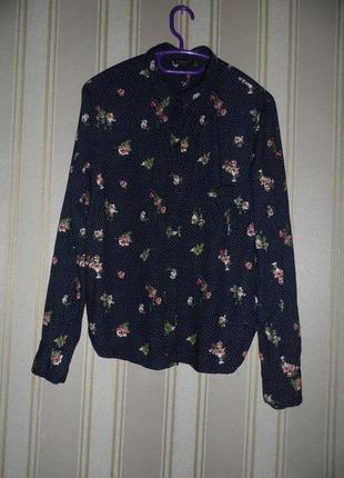 Женская рубашка длинный рукав размер 40 // l  вискоза
