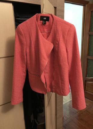 Розовый пиджак от h&m