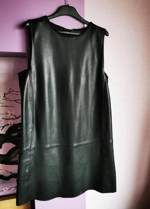 Платье эко-кожа zara
