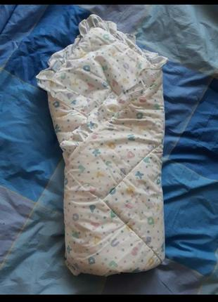 Одеяло-конверт в коляску, на выписку