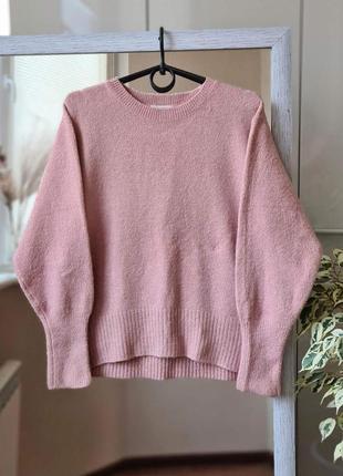 Пудровый теплый свитер с добавлением шерсти 🌺