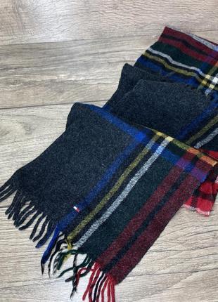 Оригинальный натуральный шарф  tommy hilfiger  (клетка)