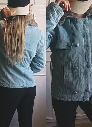 Светло голубой дафлкот дафл стеганая короткая куртка парка с мехом идеал xanaxa