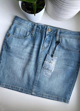 Джинсовая мини юбка colin's