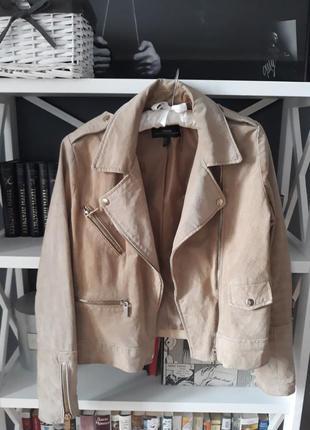 Кожаная куртка косуха из  натуральной кожи mango