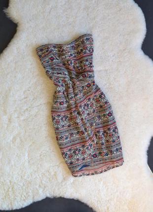 Шифоновое платье (по спинке резиночки)