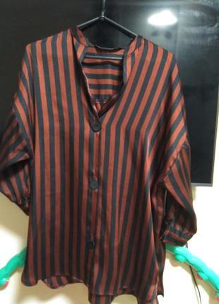 Рубашка пижамный стиль