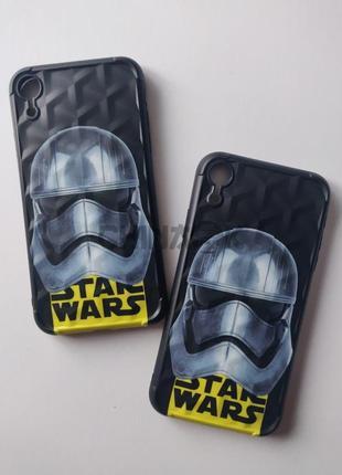 Чехол star wars черный для iphone xr