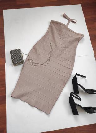 Бандажне плаття із чокером - missguided