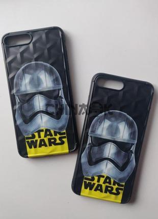 Чехол star wars черный для iphone 7 plus/8 plus