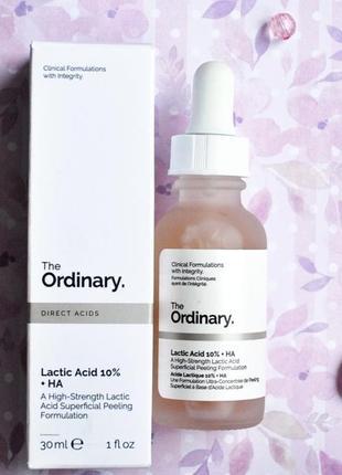 Молочный пилинг the ordinary lactic acid 10% ha