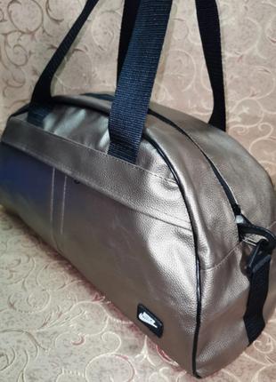 Стильная , повседневняя, удобная фитнес сумка, дорожная сумка, спортивная сумка, бронзовый