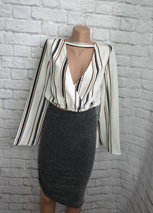 Блуза с широкими рукавами missguided, xs