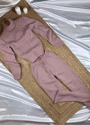 Вязаный костюм