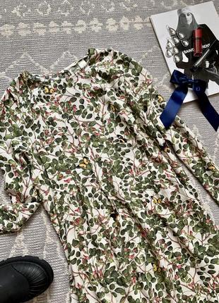 Платье в цветочный принт6 фото
