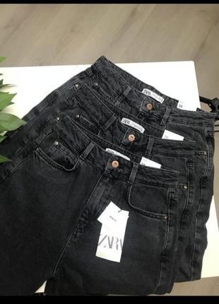 Чёрные джинсы мом1 фото