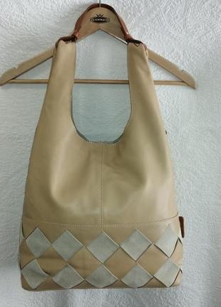 Кожаная фирменная сумка nardelli (италия)