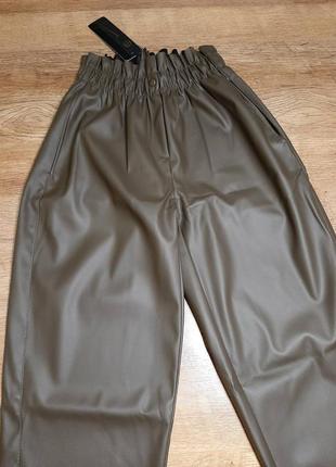 Женские штаны эко-кожа, момы