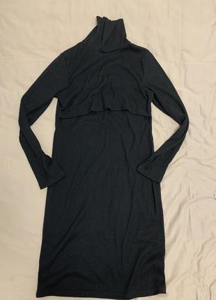 Платье гольф для беременных и кормящих