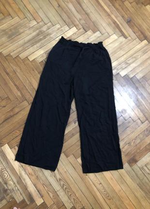 Чёрные брюки кюлоты h&m