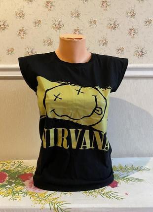 Футболка nirvana рок футболка