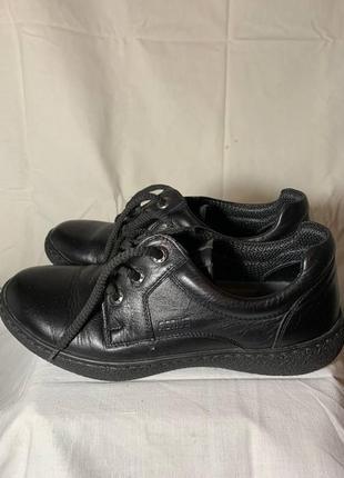 Детские кожаные туфли / сменная обувь в школу