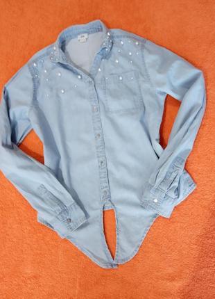 Рубашка джинсовая 11-12 лет
