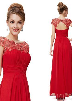 Шикарное длинное нарядное платье цвета бургунди ever pretty 8-12uk