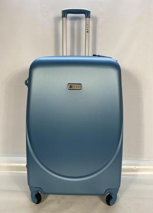 Чемодан 310 l большой серебристо голубой