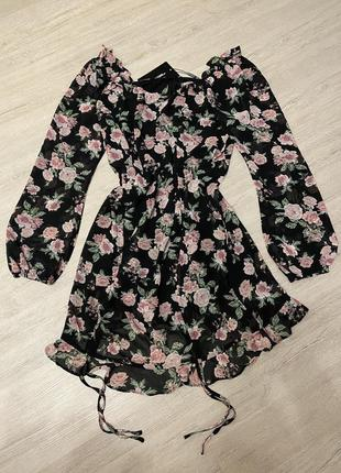 Лёгкое воздушное платье размер 16/xxl pretty little thing prettylittlething