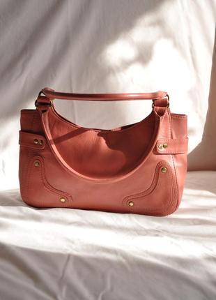 Кожаная сумка    трендова шкіряна сумка