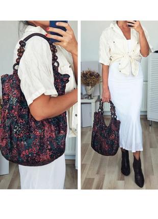 Шикарная оригинальная стильная сумка авоська бархатная сумка бохо сумка шоппер