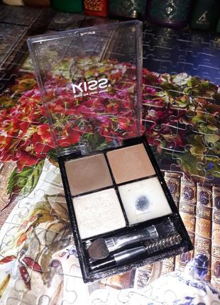 Палетка, набор теней для  бровей kissbeautiful brow kit