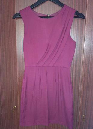 Topshop яркое платье с драппировкой