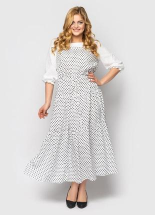 Модное платье в горох