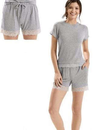 Пижама домашний костюм esmara lingerie шорты футболка кружево оригинал германия