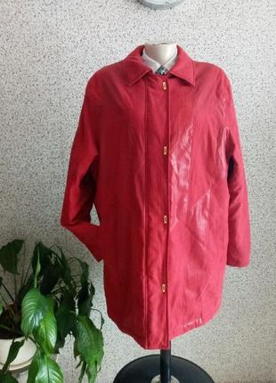 Утепленная стильная красивая демисезонная куртка canda / c&a
