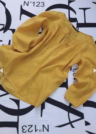 Воздушная льняная блуза/рубаха от zara 💝