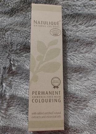 Уценка* органическая краска для волос natulique тон 1.8 фиолетовый черный