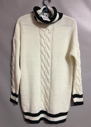 Обьемный длинный свитер от jennyfer р м