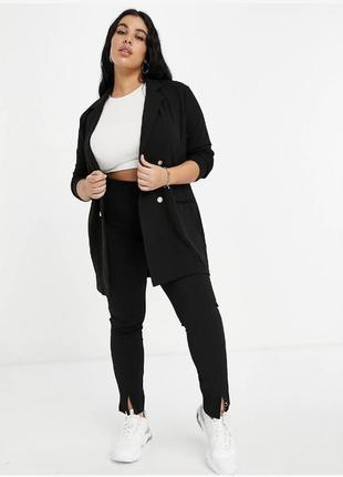 Двубортный блейзер, пиджак asos на пуговицах большого размера