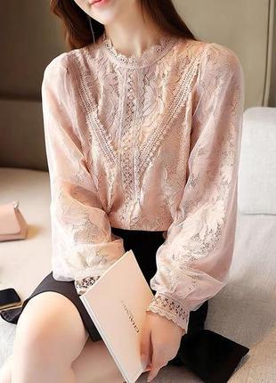 Блуза ажур2 фото