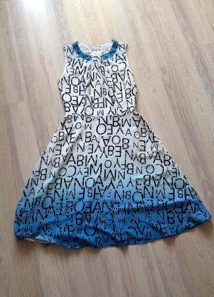 Стильное летнее платье space
