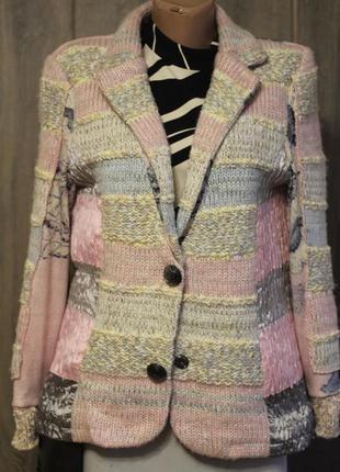 Роскошный пиджак lulu-h 48-50 франция шерсть и вискоза
